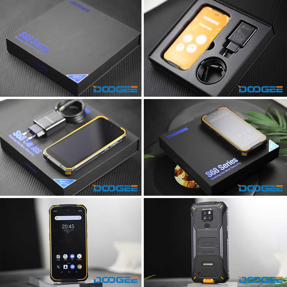DOOGEE S68 Pro جوّال المهامّ الوعرة هيليو P70 ثماني النواة 6GB 128GB تهمة لاسلكي IP68 مقاوم للماء NFC 6300mAh 12V2A تهمة 5.9 بوصة FHD +