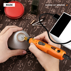 Image 5 - HILDA 3.6V Mini Drill Cordless Rotary tool With Grinding Accessories Set Multifunction Mini Engraving Pen For Dremel tools