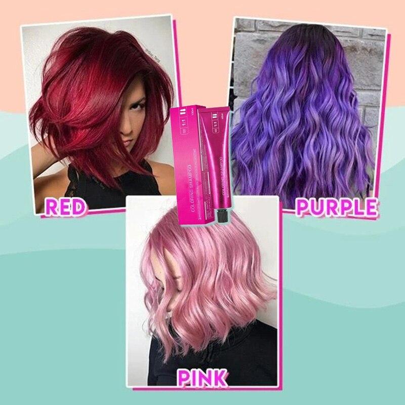 Cabelo para colorir shampoo suave seguro cabelo