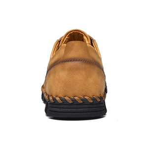 Image 5 - Handmade leather shoes Men Loafers Quality Split Leather casual shoes Moccasins Men shoes leather size 36 48
