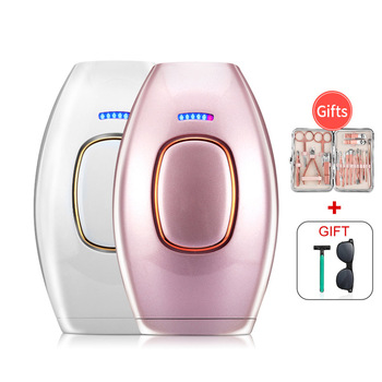 Depilatory Laser Mini Hair Epilator Permanent Hair Removal IPL 500000 Shot Light Pulses Whole Body electric Hair RemoverDropship 2018 new epilator hair removal laser electric mini ipl 400000 light pulses permanent hair removal with free face massager tool