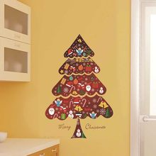 Joyeux arbre de noël étoile Stickers muraux maison Stickers salon décorations fond décoration murale amovible Stickers muraux(China)