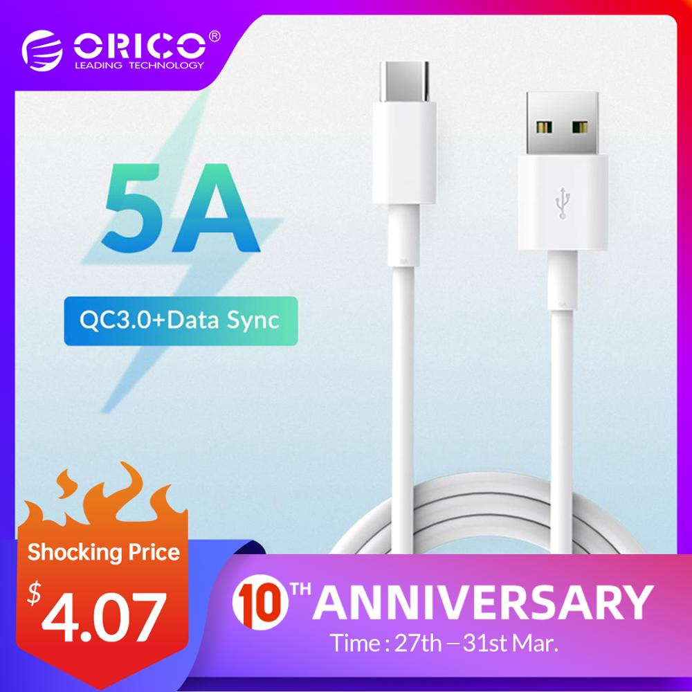 ORICO 5A USB Type C Cable Fast Charging Cable for Huawei P30 Mate 20 Pro Xiaomi Mi 9 HTC for Macbook LG G5 Mobile Phone Charger|cable for|usb sync|charging cable - AliExpress