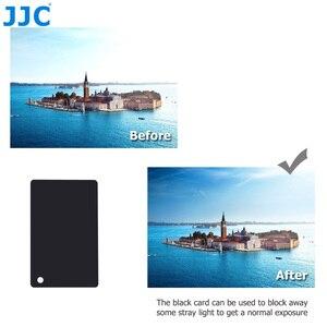 Image 4 - JJC 3in1 Set di carte per bilanciamento del bianco 18% calibrazione della fotografia di carte grigie per Canon Nikon Sony Fuji Pentax DSLR accessori per fotocamere