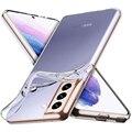Оригинальный ультратонкий прозрачный чехол для Samsung Galaxy S21, ультрапрозрачный силиконовый чехол с полным покрытием для Samsung S21 Plus, противоуда...