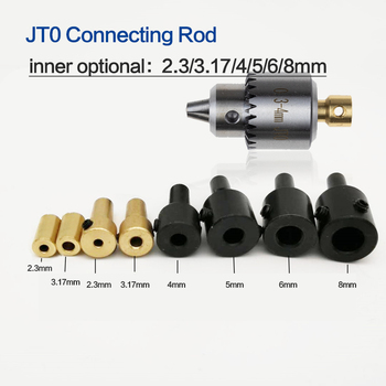 Micro 0.3-4mm Jt0 Drill Chucks Taper Mounted JTO Connecting Rod  2.3mm/3.17mm/4mm/5mm/6mm/8mm Shaft Coupling