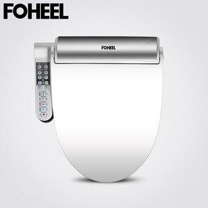 Image 1 - FOHEEL New Intelligent Toilet Seat Gold Silver Side Panel Control Electric Bidet Smart Bidet Heating Dry Massage for Wc