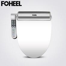FOHEEL nowa inteligentna deska toaletowa złoty srebrny z jednej strony panel sterowania Bidet elektryczny inteligentny Bidet ogrzewanie suchy masaż do Wc