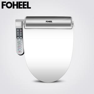 "Image 1 - FOHEEL חדש מושב אסלה חכם זהב כסף צד פנל שליטה חשמלי בידה חכם בידה חימום יבש עיסוי עבור בב""ש"
