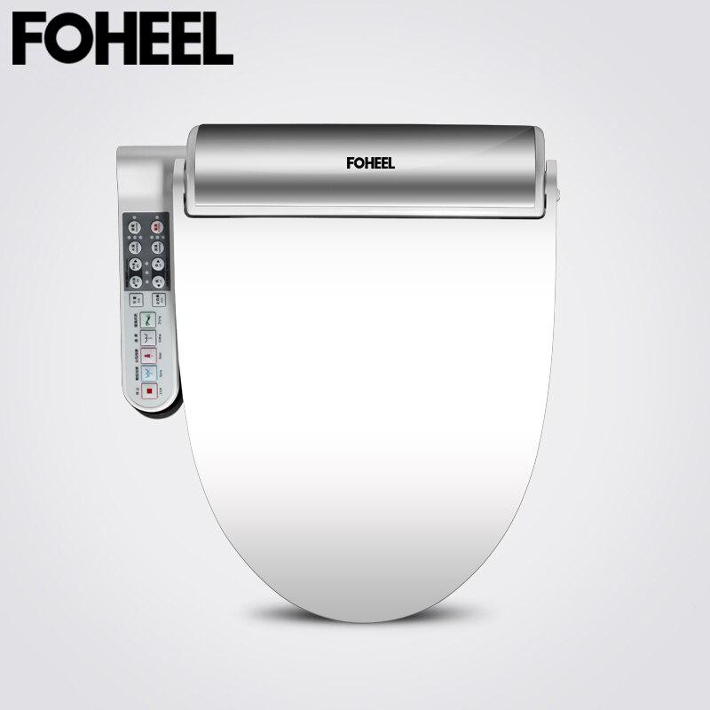 Foheel 새로운 지능형 변기 골드 실버 사이드 패널 컨트롤 전기 비데 스마트 비데 난방 wc 용 드라이 마사지