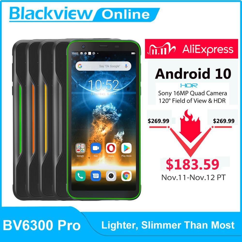 Blackview BV6300 Pro Helio P70 6GB + 128GB IP68 étanche robuste Smartphone 4380mAh NFC téléphone portable Android 10.0