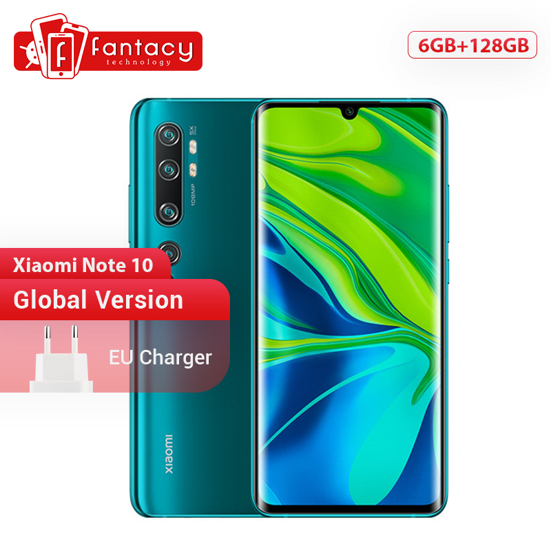 Global Version Xiaomi Mi Note 10 6GB RAM 128GB ROM 108MP Penta Camera Snapdragon 730G Octa-core Cellphone 6.47'' Curved Display