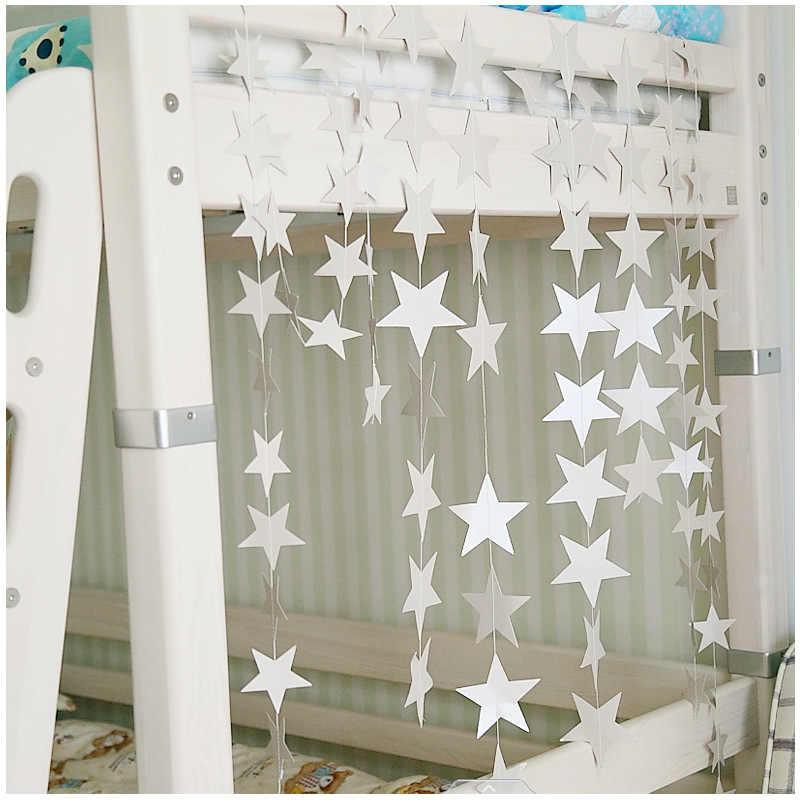 الشمال نمط 4 متر طويلة ستار سلسلة حلية للطفل الحضانة الفتيات غرفة النوم شقة ديكور للتعليق على الحائط الدعائم 7 اللون