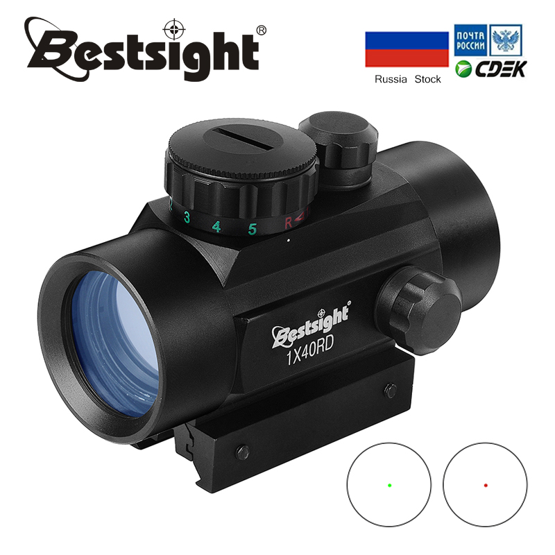 1x40 Red Dot Scope Sight Tactical Rifle Scope Green Red Dot Collimator Dot With 11mm/20mm Rail Mount Airsoft Air Hunting