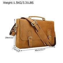 """Мужской кожаный 1"""" портфель для ноутбука, сумка-мессенджер, чехол на плечо, сумка"""