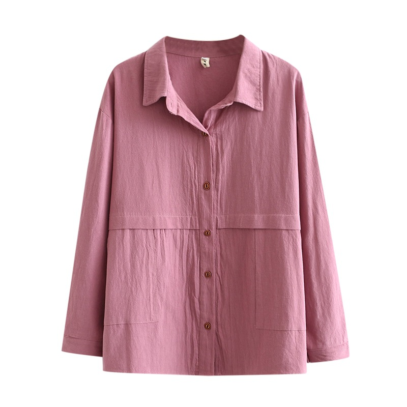 Autumn Women Shirts Ladies Solid Tops Female Long Sleeve Blouses Loose Plus Size Clothing K91 9012