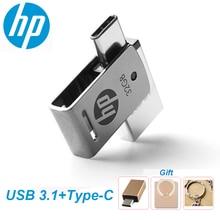 HP OTG Type-C USB3.1 Metal USB Flash Drive 256GB 128GB 64GB High Speed X5000M Pendrive for