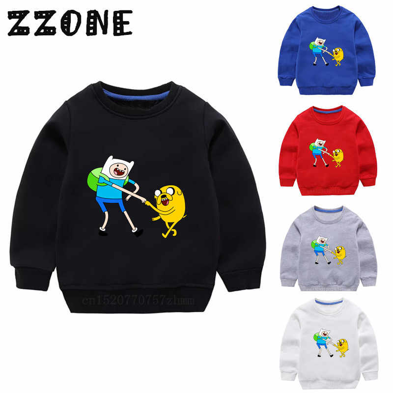 Children's Hoodies Kids Cartoon Adventure Time Finn&Jake Funny Sweatshirts Baby Pullover Tops Girls Boys Autumn Clothes,KYT5200