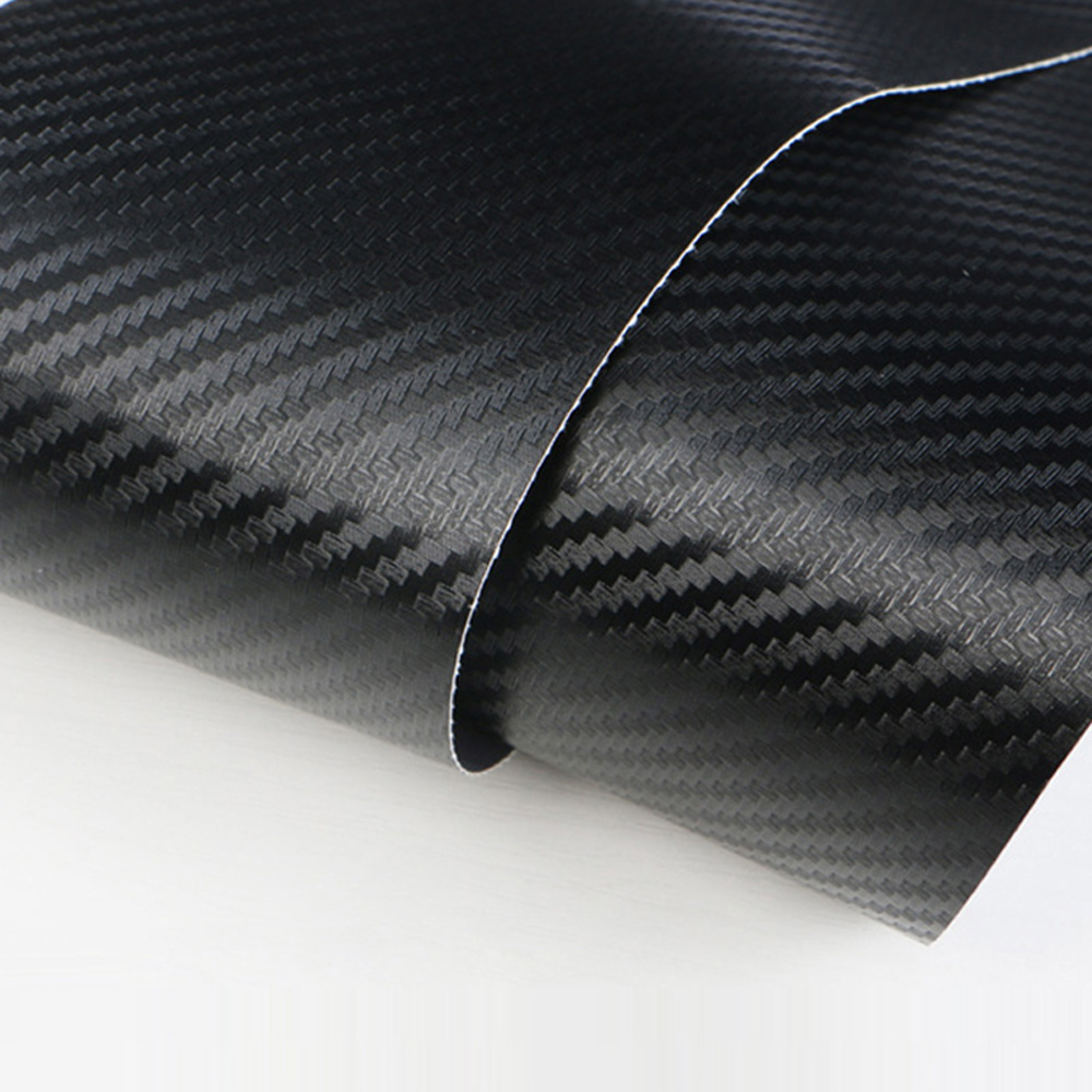 Universal Car Auto Tail Box Carbon Fiber Style Door Anti-kick Protective Sticker