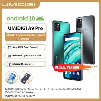 Перейти на Алиэкспресс и купить UMIDIGI A9 Pro смартфон So ny 32/48MP Quad Camera 24 МП селфи камера 4 Гб 64 Гб/6 ГБ 128 ГБ Helio P60 6,3 дюймFHD + Глобальная версия