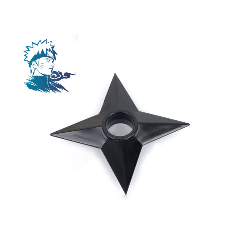 Anime Naruto Plastic Darts Cosplay Accessories Kakashi Sasuke Shuriken Japanese Ninja Prop Boys Play Games Black Throwing Weapon image