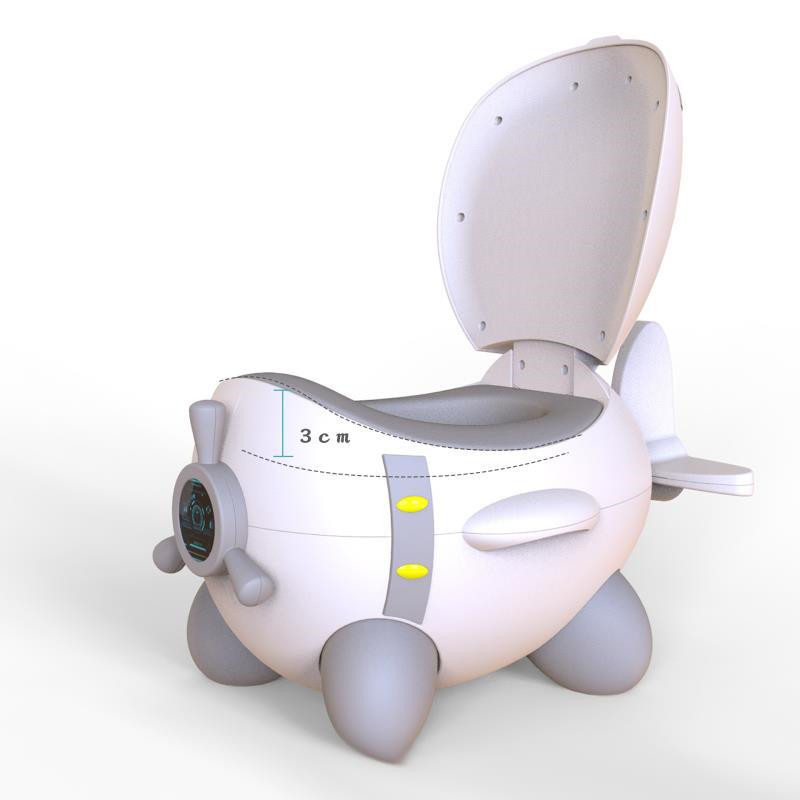 Baby Potty Plastic Children's Pot Infant Potty Training Seat Cute Baby Toilet Safe Chair Comfortable Backrest Children's Potty