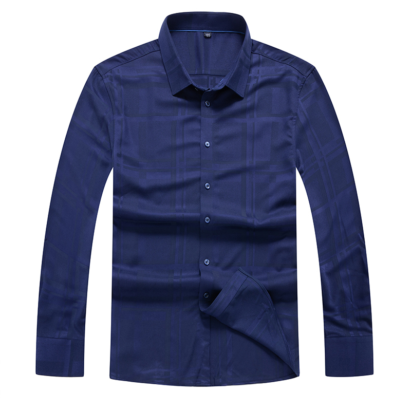 Autumn Winter 8XL Plus Size Men Dress Shirts Brand Clothing Fashion Camisa Social Casual Men Shirt Slim Long-Sleeve Masculina