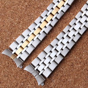 Image 3 - 19 مللي متر الفضة الذهب المحار أضعاف نشر المشبك حزام (استيك) ساعة حزام سوار ل الأمير سلسلة ووتش جزء مربط الساعة