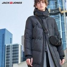 JackJones мужской зимний Повседневный длинный пуховик с капюшоном пальто мужская одежда 219312507