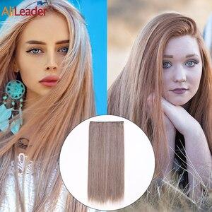 Alileader 24 дюйма синтетические волосы для наращивания на клипсах белые черные коричневые натуральные волосы для наращивания на 5 клипсах длинные прямые волоконные шиньоны