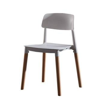 Nordic modern minimalist plastic chair solid wood leisure chair restaurant dining chair gift chair adult back chair conference c