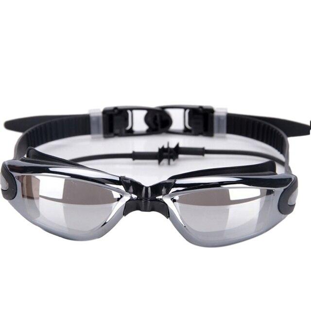 New Swimming Anti-fog Glasses Spectacles Swimming Goggles Unisex Plating Professional Glasses Arena Siamese Silica Gel Earplugs