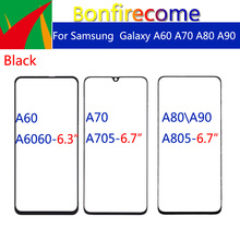 10pcs\lot For Galaxy A60 A70 A80 A90 A6060 A705F A7050 A805 A805F A805X A805XC A805N Touch Screen Front Outer Glass Panel
