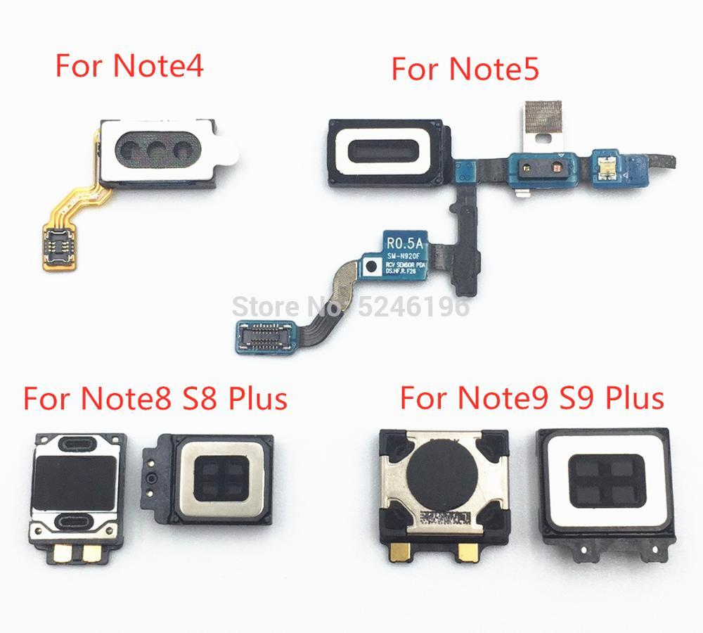 Ear Earpiece Speaker Flex Cable For Samsung Galaxy Note 4 5 Note 8 9 S8 S9 Plus Headphone Jack Audio Repair Replacement Part