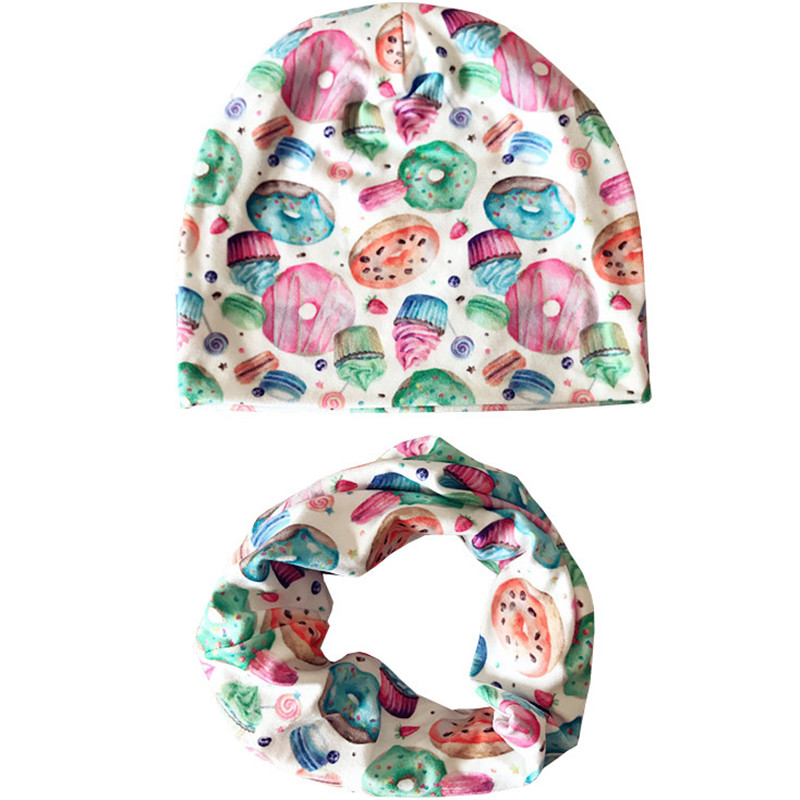 New Fashion Kids Scarf Hat Sets Autumn Winter Baby Hats for Girls Boys Cap Scarf Child Cap Toddler Baby Beanies Hat