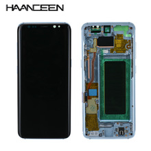 أوري A + + + شاشات lcd لسامسونج غالاكسي S8 S8 زائد G950 G950F G955fd G955F G955 شاشة الكريستال السائل مع شاشة تعمل باللمس رقمنة