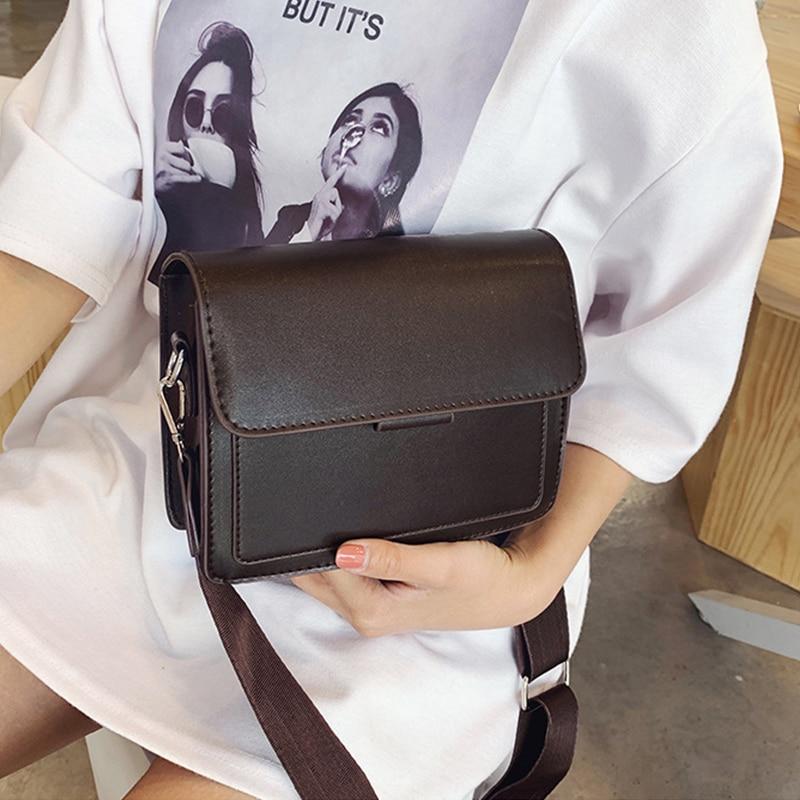 New Small Fashion Shoulder Bag Women's Handbags Leather Flap Women Messenger Casual Tote Vintage Shoulder Bags Clutch Sac A Main