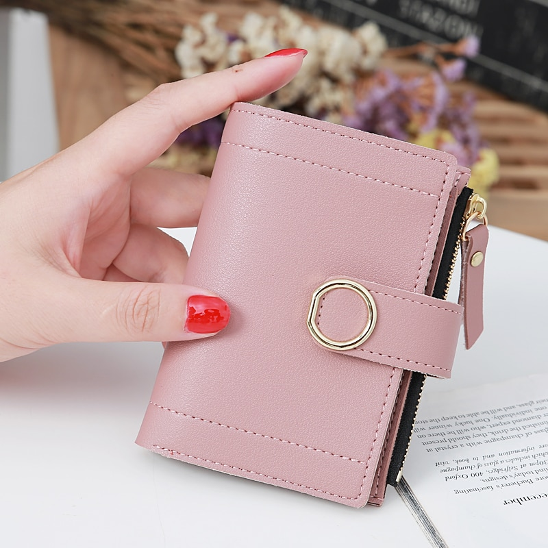 New Fashion Women's Wallet Short Women Coin Purse Wallets For Woman Card Holder Small Ladies Wallet Female Hasp Mini Clutch 2021