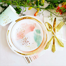 ABDO Party Disposable Tableware Champagne Cup Plate Straws Birthday Decorations Kids Baby Shower Wedding Supplies