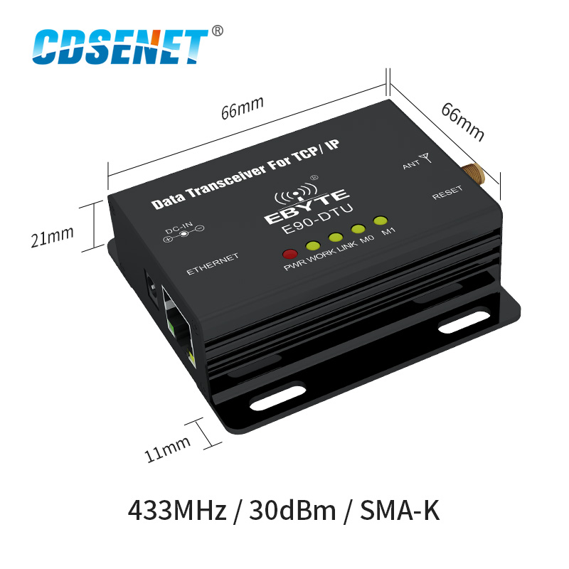 Image 2 - Ethernet LoRa 433MHz 30dBm 1W Long Range Wireless Transceiver E90 DTU 433L30E IoT PLC 8000m Distance 433 MHz RJ45 rf Module-in Fixed Wireless Terminals from Cellphones & Telecommunications
