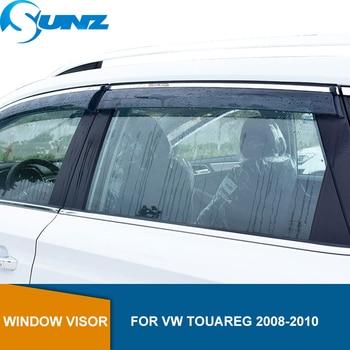 Side Window Deflectors For VW Touareg 2008 2009 2010 Smoke Window Visor Vent Shade Sun Rain Deflector SUNZ