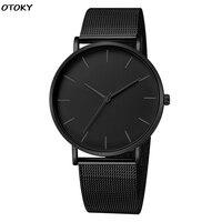 Homens simples relógios de quartzo relógio de pulso homem esporte relógio de pulso analógico aço inoxidável casual bracele simples relógio de marca superior Relógios de quartzo     -