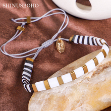 TILA Beads Bracelets Women Adjustable Stripe Bracelet  Pulseras Mujer Moda 2020 Summer Handmade Gifts kpop ss501 kim hyun joong silicon bracelets luminous bracelet wristband pulseras 19278