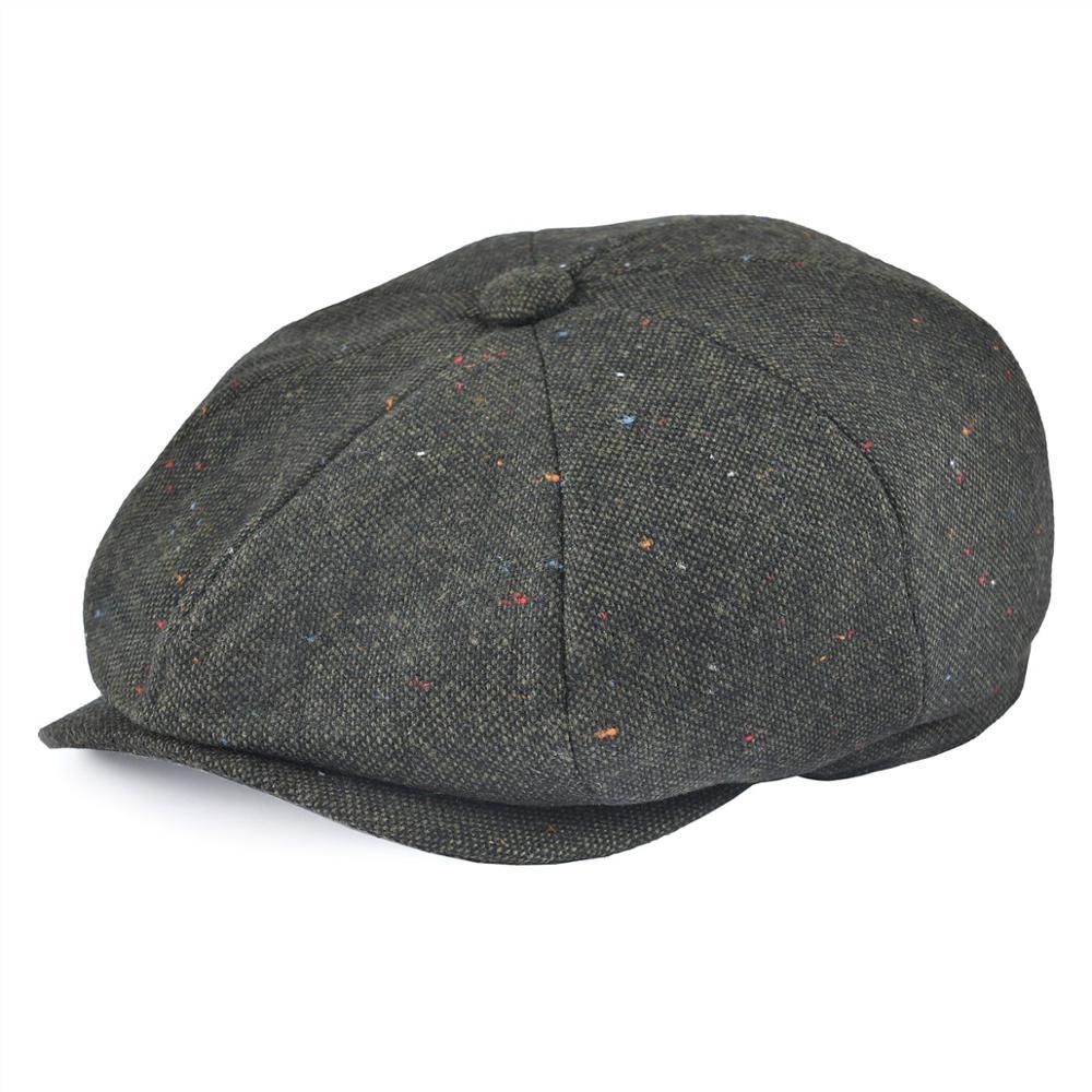 VOBOOM Wool Blend Tweed Newsboy Cap Men Beret Women Hat Cabbies Flat Caps Driver Headpiece Apple Hats Gatsby Boina 132