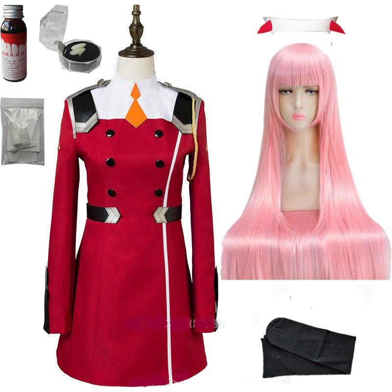 02 zero dois cosplay traje querida no franxx cosplay dfxx feminino traje conjuntos completos vestido