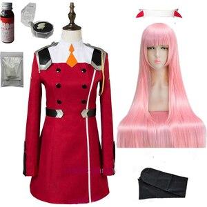 Image 1 - Disfraz de Zero Two para DARLING in the FRANXX, Cosplay, DFXX, para mujer, vestido de juegos completos