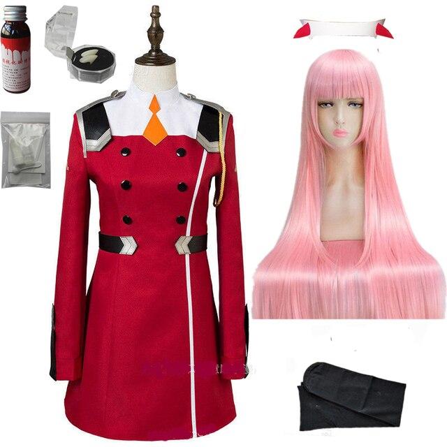 Disfraz de Zero Two para DARLING in the FRANXX, Cosplay, DFXX, para mujer, vestido de juegos completos
