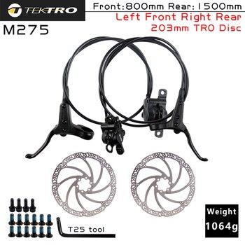 mountain bike disc brake rotor floating disc bicycle brake pad six nail brake disc 180 160mm 203mm TEKTRO HD-M275 Hydraulic Disc Brake MTB Bicycle Front/Rear Brakes 800/1500mm witha 160/180/203mm Rotor Mountain Bike brake Parts