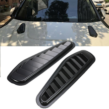 New ABS Car Air Flow Intake Scoop Turbo Bonnet Vent Cover Hood Fender Auto Front Engine Decorative Accessories Styling