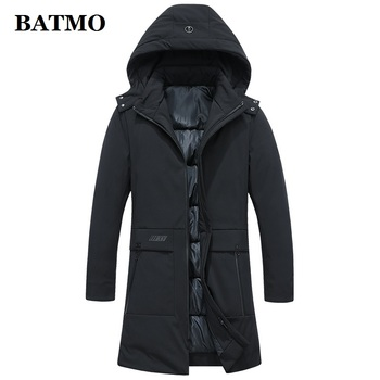 Batmo 2019 winter new arrival high quality hooded parkas men,Men's casual keep warm jacket coat,size L-4XL.2714